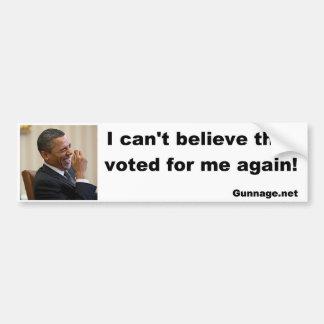 Anti autocolante no vidro traseiro de Obama - eu n Adesivo Para Carro