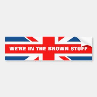 Anti bandeira da UE Ingleses Adesivo Para Carro