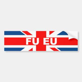 Anti bandeira da UE Ingleses Adesivos