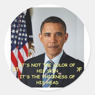 anti Barack Obama Adesivos Redondos
