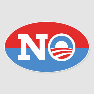 Anti Barack Obama Biden NENHUMA etiqueta do Oval Adesivos Oval