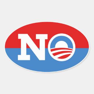 Anti Barack Obama Biden NENHUMA etiqueta do Oval d Adesivos Ovais