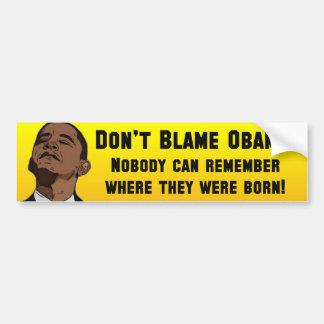Anti Barack Obama Birther Adesivo Para Carro