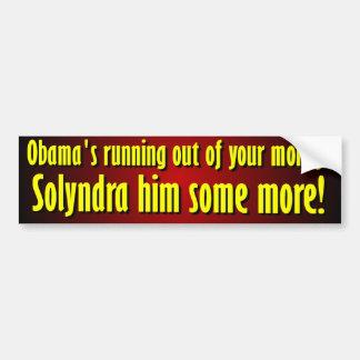 Anti Barack Obama Solyndra Adesivo Para Carro