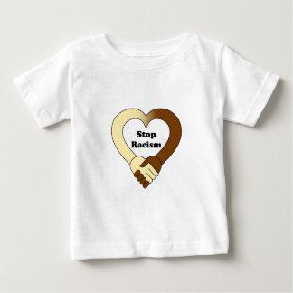 Anti camisa do bebê do logotipo do aperto de mão