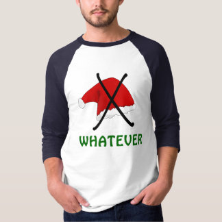 Anti camiseta do chapéu de Papai Noel do Natal
