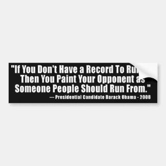 Anti citações da eleição de Obama Adesivo Para Carro