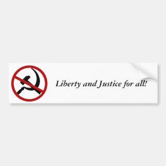 Anti-Comunismo, liberdade e justiça para tudo! Adesivo Para Carro