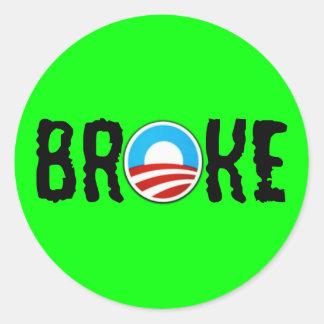 Anti débito anti Obama Adesivo Redondo