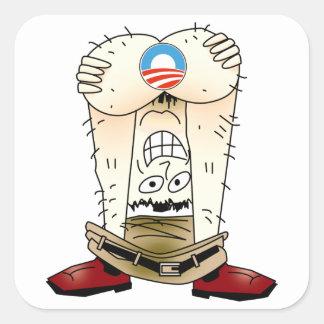 Anti etiqueta de Obama Adesivo Quadrado