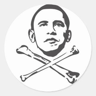Anti etiqueta de Obama! Adesivo Em Formato Redondo