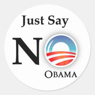 Anti etiqueta de Obama Adesivos Em Formato Redondos