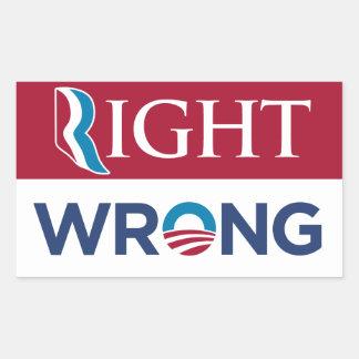 Anti etiqueta errada direita de Barack Obama Adesivo Em Formato Retângular