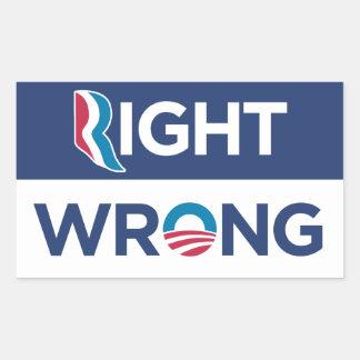 Anti etiqueta errada direita de Obama Rectange Adesivos Retangulares