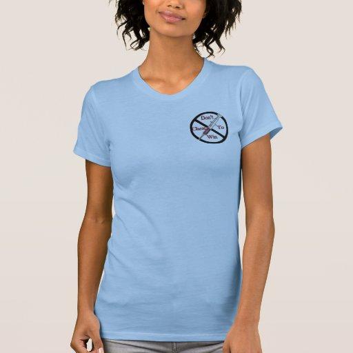 Anti-Lubrificação do apoio Tshirts