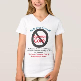 Anti miúdos do núcleo comum sobre camisas da