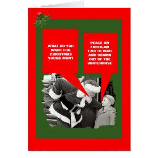 Anti Natal engraçado de Obama Cartão Comemorativo