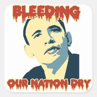 Anti Obama 2012 Adesivo Em Forma Quadrada