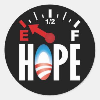 Anti Obama 2012 - fora da esperança Adesivo Em Formato Redondo