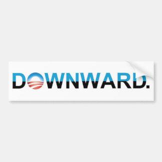 "Anti-Obama 2012 - ""PARA BAIXO. "" Adesivo Para Carro"
