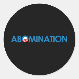 Anti-Obama - abominação Adesivo Redondo