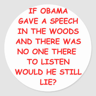 anti obama adesivos em formato redondos