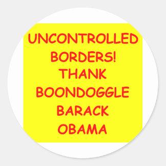 anti obama adesivo em formato redondo