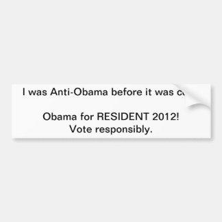 anti-obama antes que estiver autocolante no vidro  adesivo para carro