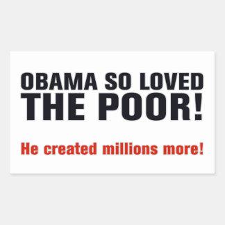 Anti Obama Adesivo Retangular