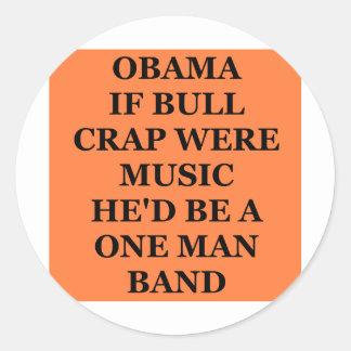 anti obama adesivo redondo