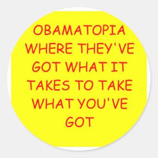 anti obama adesivos redondos