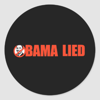 Anti-Obama Bumpersticker - Obama encontrou-se Adesivos Redondos