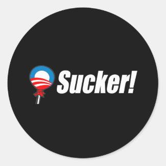 Anti-Obama Bumpersticker - otário Adesivo Em Formato Redondo