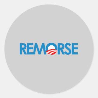 Anti-Obama Bumpersticker - remorso Adesivo Redondo