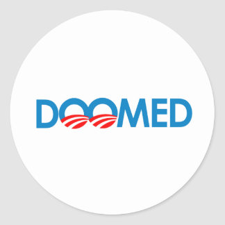 Anti-Obama - condenado Adesivo Em Formato Redondo