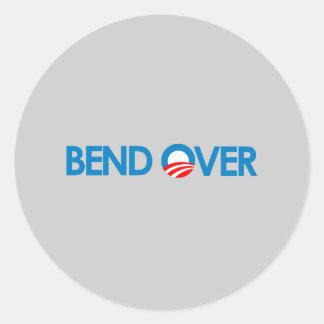 Anti-Obama - curvatura sobre Adesivos Em Formato Redondos
