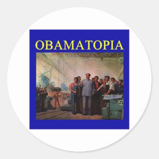Anti obama design de OBAMATOPIA Adesivos Em Formato Redondos
