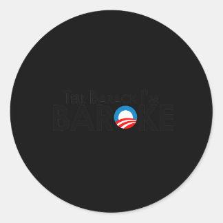 Anti-Obama - diga Barack Im Baroke Adesivos Em Formato Redondos