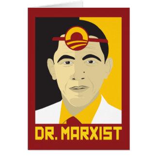 Anti-Obama: Doutor Marxista Cartão Comemorativo