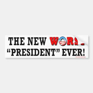 """anti Obama """"etiqueta do presidente Nunca o mais ma Adesivo Para Carro"""