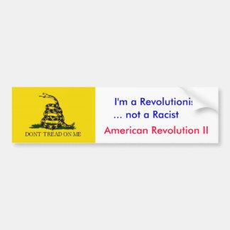 Anti-Obama: Eu não sou um racista Adesivo Para Carro