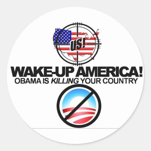 Anti Obama extremo graceja a etiqueta 01 Adesivo