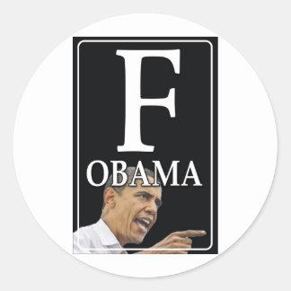 Anti-Obama F Obama Adesivo
