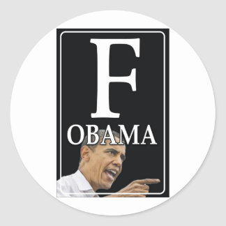 Anti-Obama F Obama Adesivos Redondos