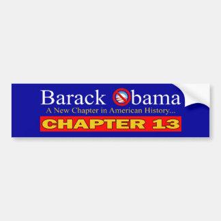 Anti-Obama - falência nova do capítulo… Adesivo Para Carro