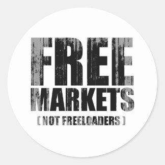 Anti-Obama - Freeloaders Faded.pn dos mercados Adesivo Redondo