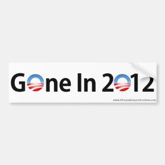 """Anti-Obama """"ido em 2012 """" Adesivo Para Carro"""