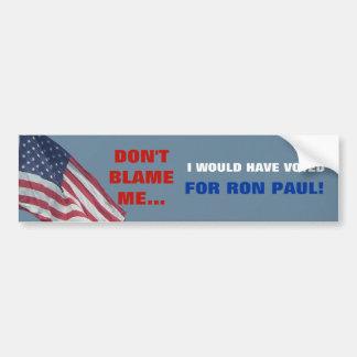 Anti Obama meu voto é para Ron Paul político Adesivo Para Carro