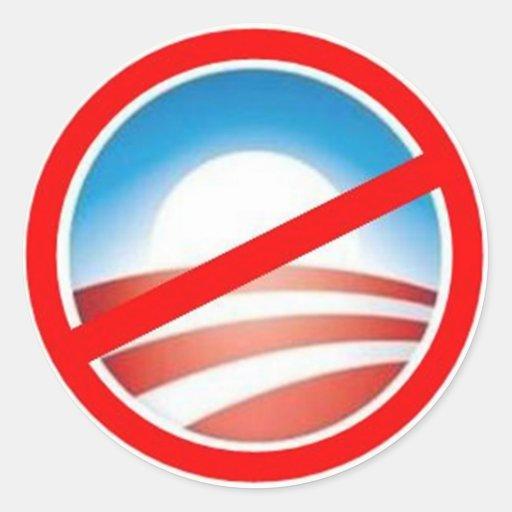 Anti-Obama - nenhum Obama 2012 Adesivo Redondo