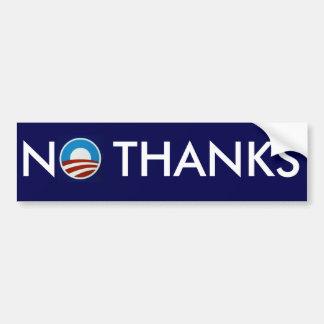 """Anti-Obama """"nenhum obrigado """" Adesivo Para Carro"""